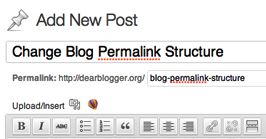 Manipulate and Simplify Blog Post URLs (also called permalinks)