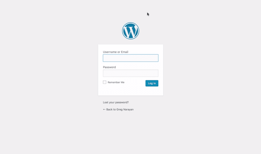 self hosted wordpress blog