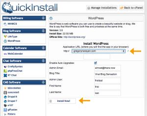 one-click-wp-install