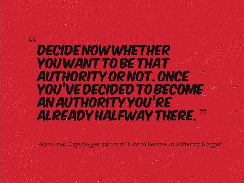 This is a picture of a quote from a post on Copyblogger.