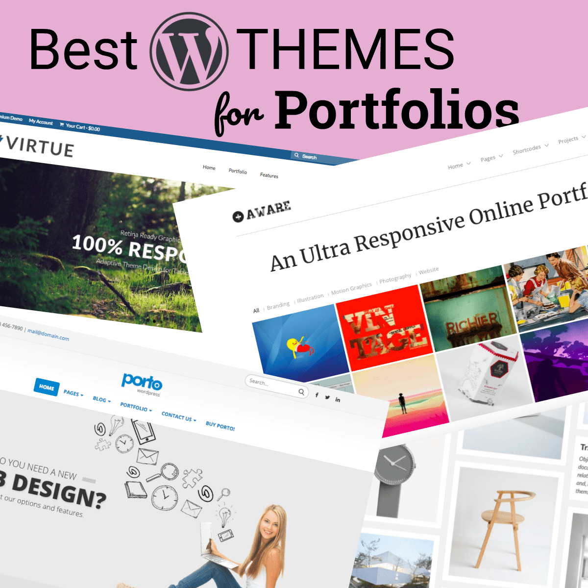 best wordpress themes for portfolio websites