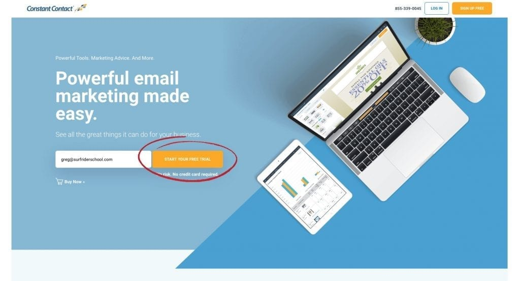 start email marketing for free